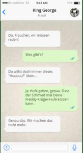 Mein Pferd hat Whatsapp Teil 1 - Hufe geben