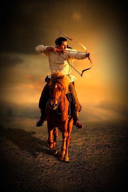 Bogenschießen vom Pferd aus
